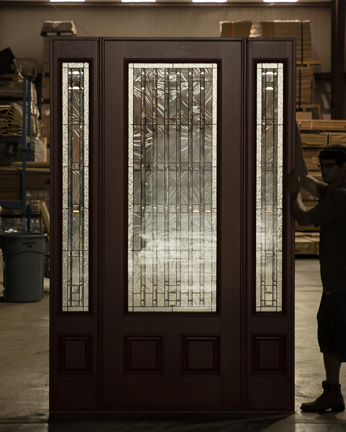 Exterior Mahogany Doors Pfc 252 Walnut Stained