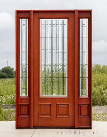 New PFC 252 Mahogany door in dark cherry finish In 2018 - Simple Elegant outside door with window In 2019