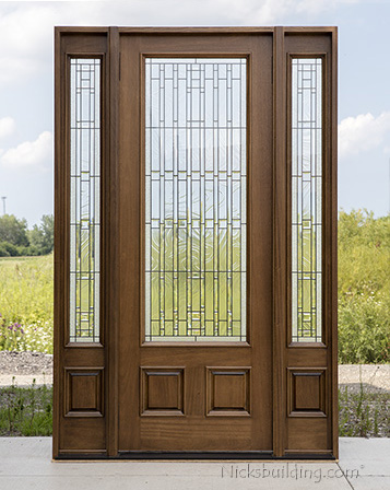 Exterior doors with sidelights wholesale clearance wood doors for Small exterior doors