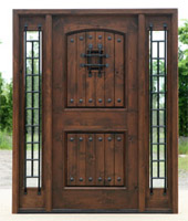 Rustic Exterior Doors Prefinished in Walnut