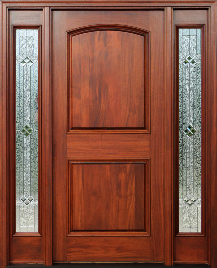 Red Mahogany Doors With Sidelights Pre Finished