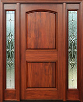 Mahogany Exterior Doors With Sidelights Pre Finished