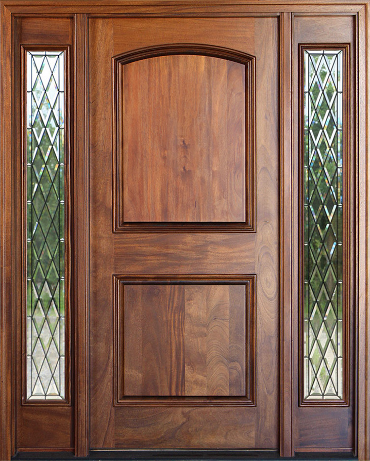 Mahogany entry door with Chestnut Finish
