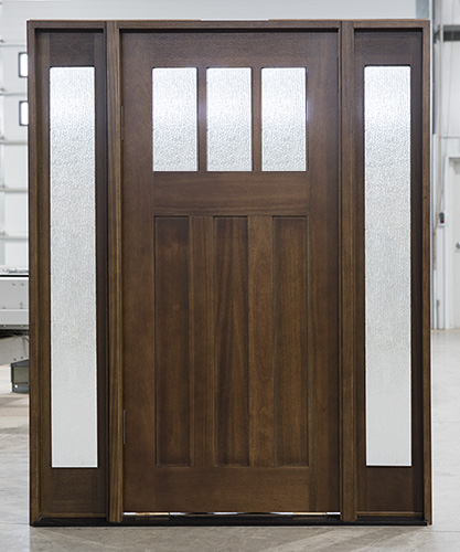 Craftsman Exterior Doors Pfc 601 Mahogany Walnut Pre Finished In Stain From 2899 4 Gl Options