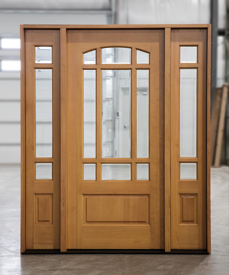Exterior Douglas Fir Prarie Doors With Sidelights