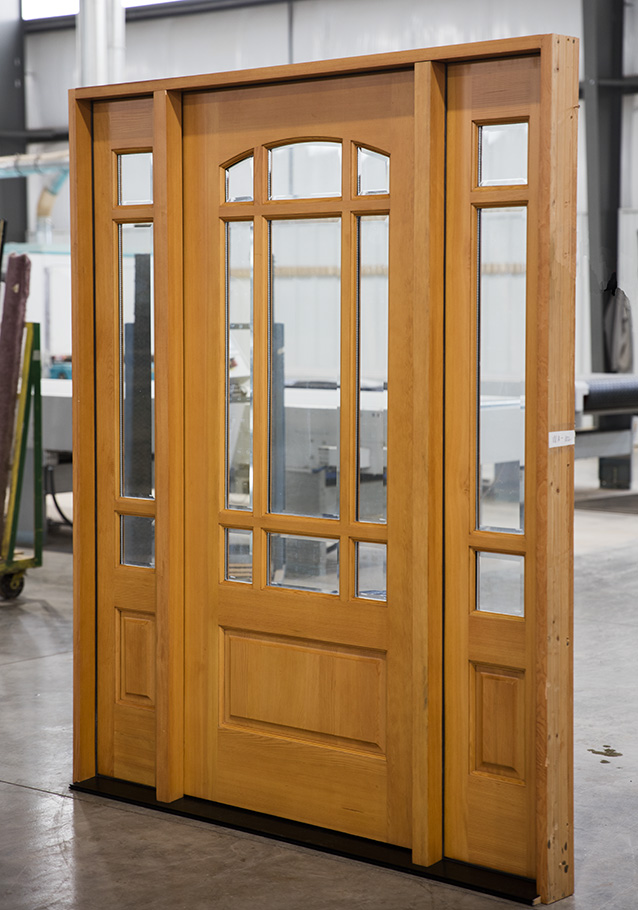 Exterior Douglas Fir Prarie Doors With Sidelights
