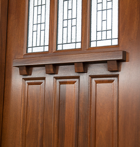 Exterior Mahogany Arts And Crafts Doors With Sidelights