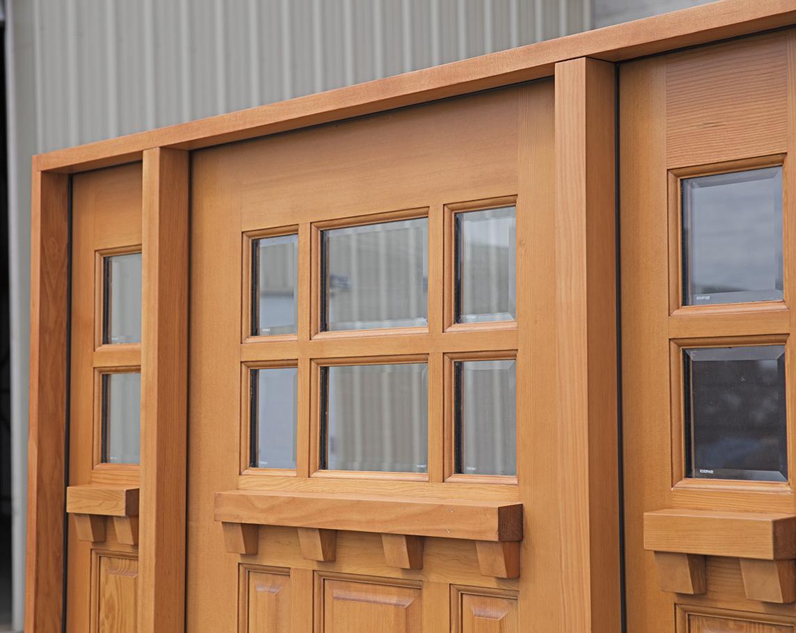 Exterior Douglas Fir Craftsman Doors With 14 Quot Sidelights