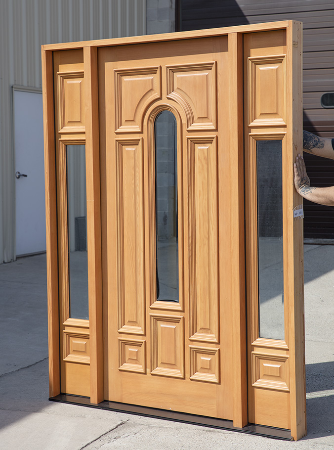 Classic Exterior Doors Douglas Fir With Sidelights