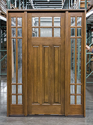 Craftsman Exterior Prairie Style Doors with Glass