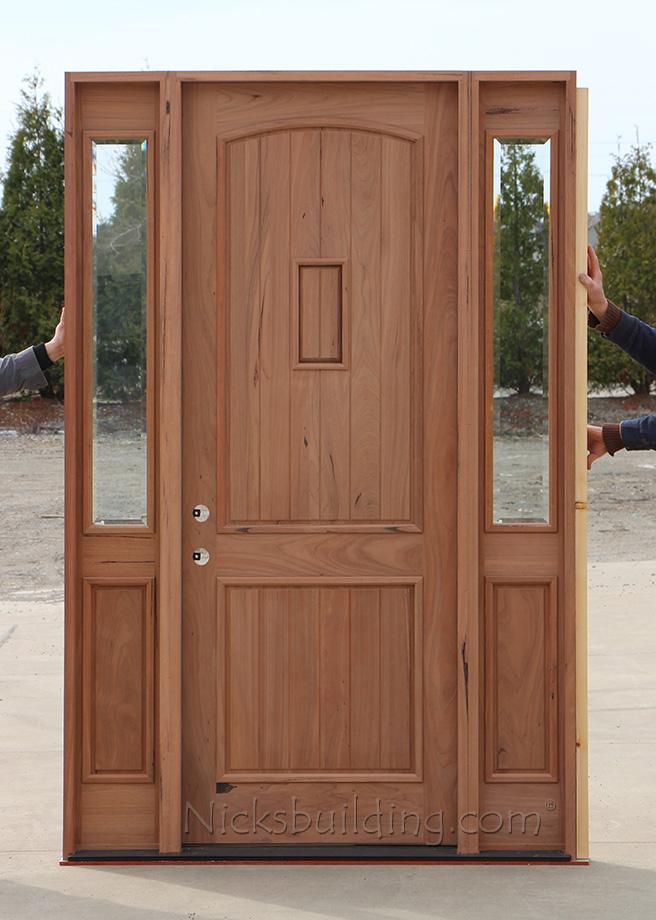 Teak Exterior Wood Doors With Speakeasy