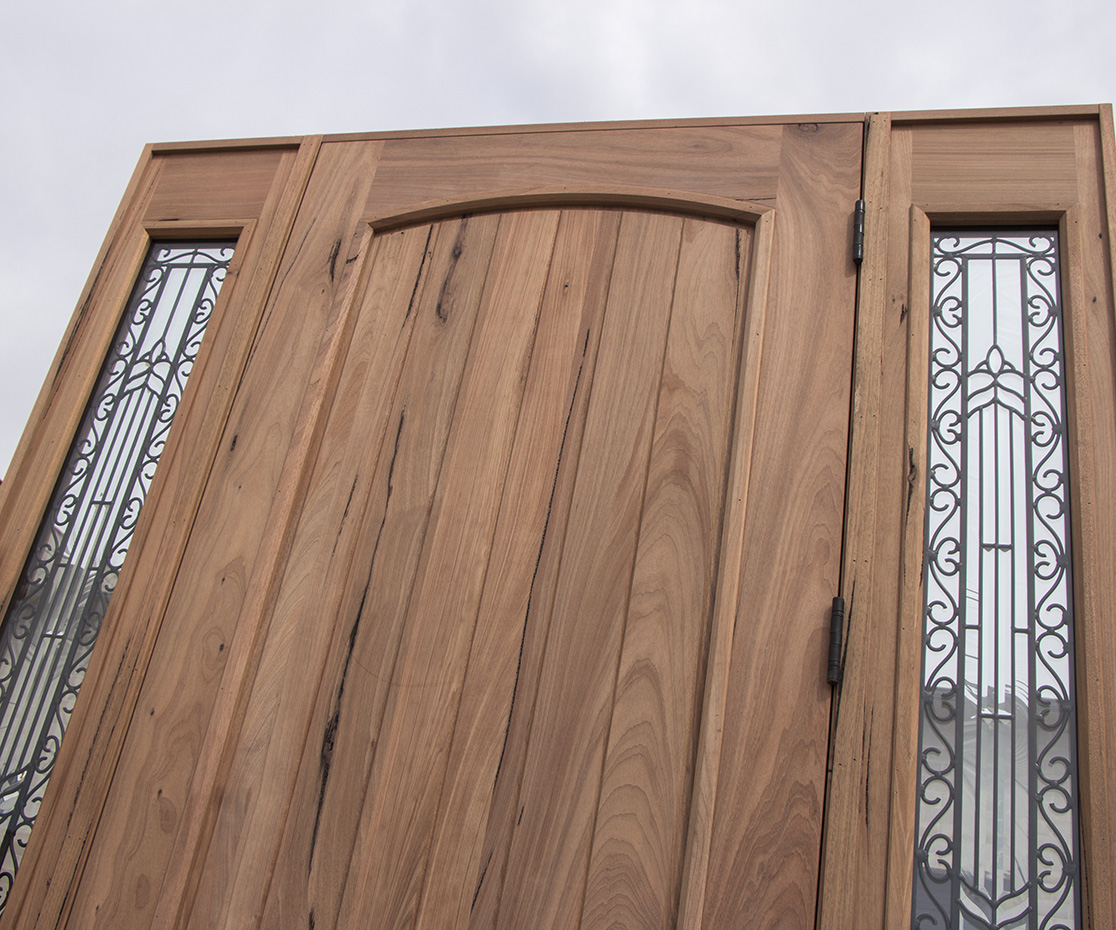 Teak Exterior Wood Doors With Sidelites