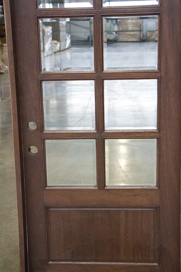 10 Lite Exterior Door With Clear Beveled Glass