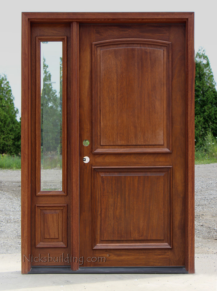 Exterior 2 Panel Door With 1 Sidelite