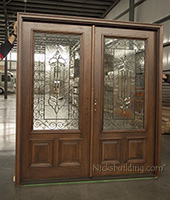 3 point locking double doors
