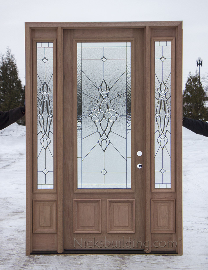 8 foot mahogany exterior door cl 101