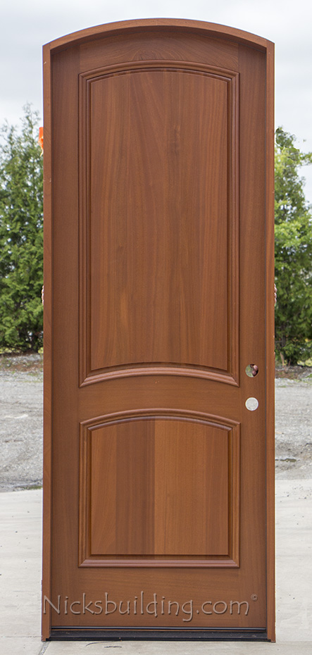 Arched Top Mahogany Entry Door