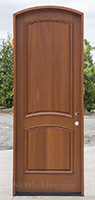 arched top 2 panel exterior entry door CL-3080