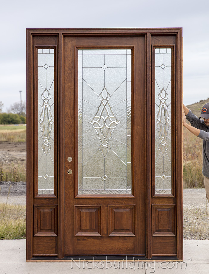 Cl 1 Mahogany Exterior Door Walnut Finish