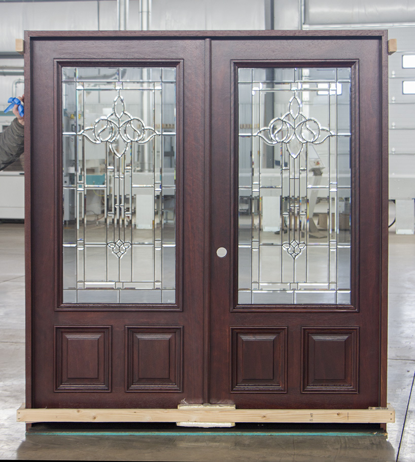 Prefinished exterior double doors - Prefinished mahogany interior doors ...