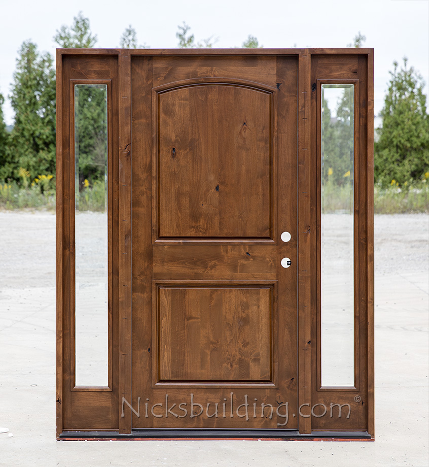 Rustic knotty alder wood exterior doors cl 1451 for Wood for exterior door