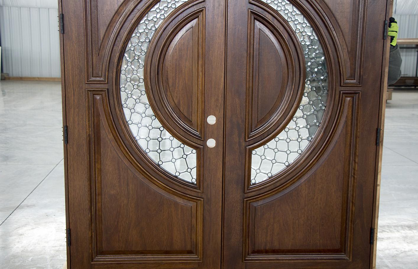 Elegant Mahogany Double Doors