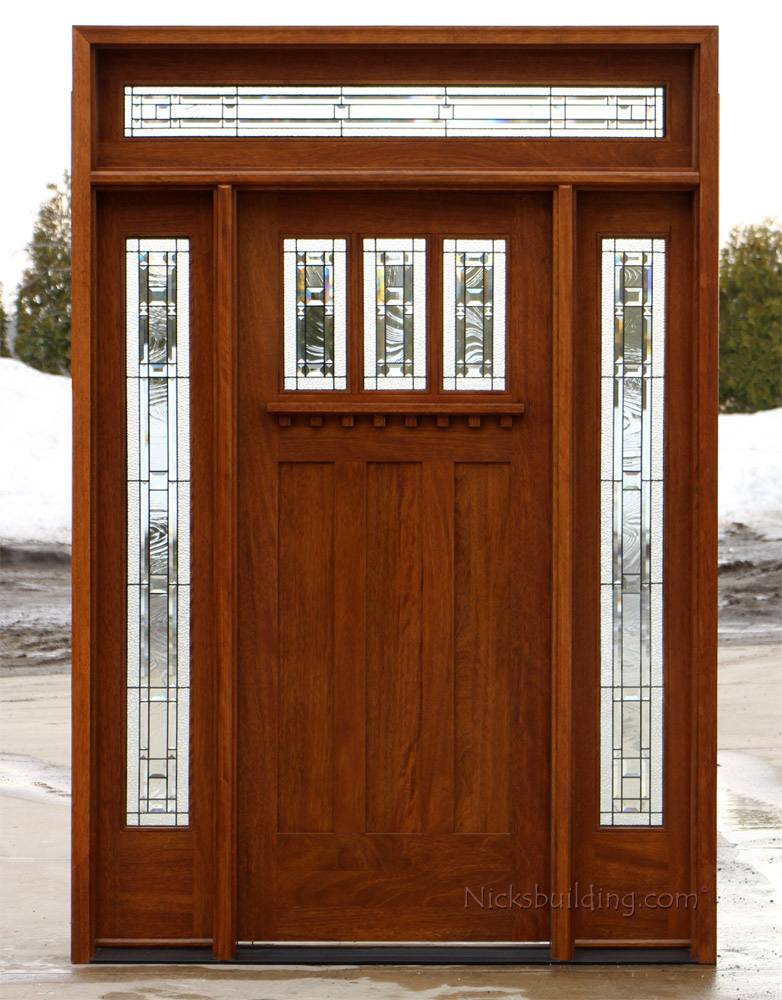 Craftsman entry door with transom for 18 door