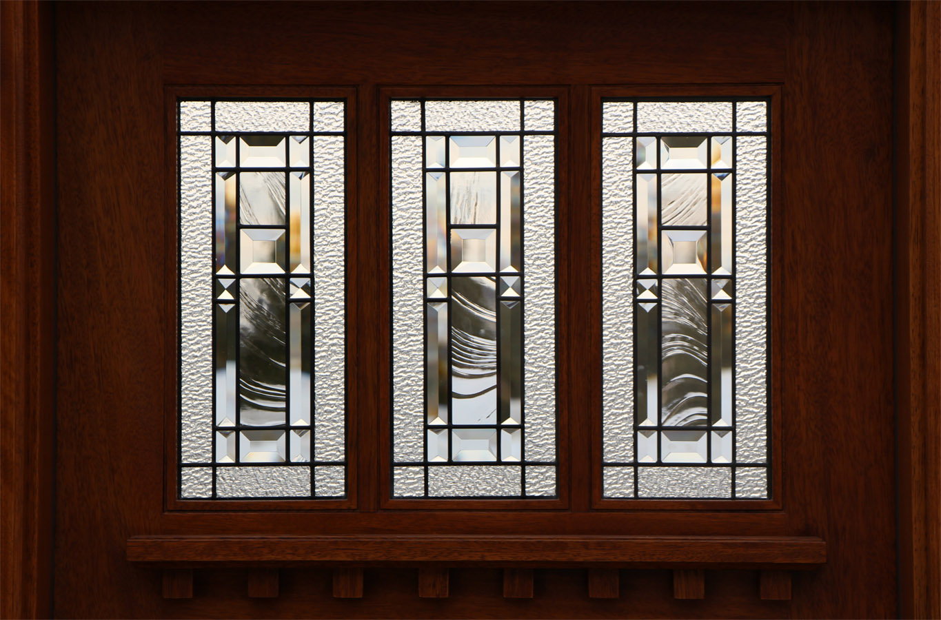 900 #2F1308 Exterior Craftsman Door With Transom And Art Glass save image Exterior Doors Discount 45271365