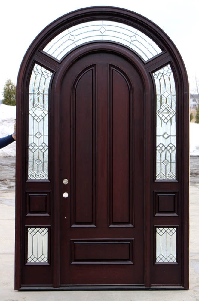 Arched Exterior Door With Sidelights Cl 20