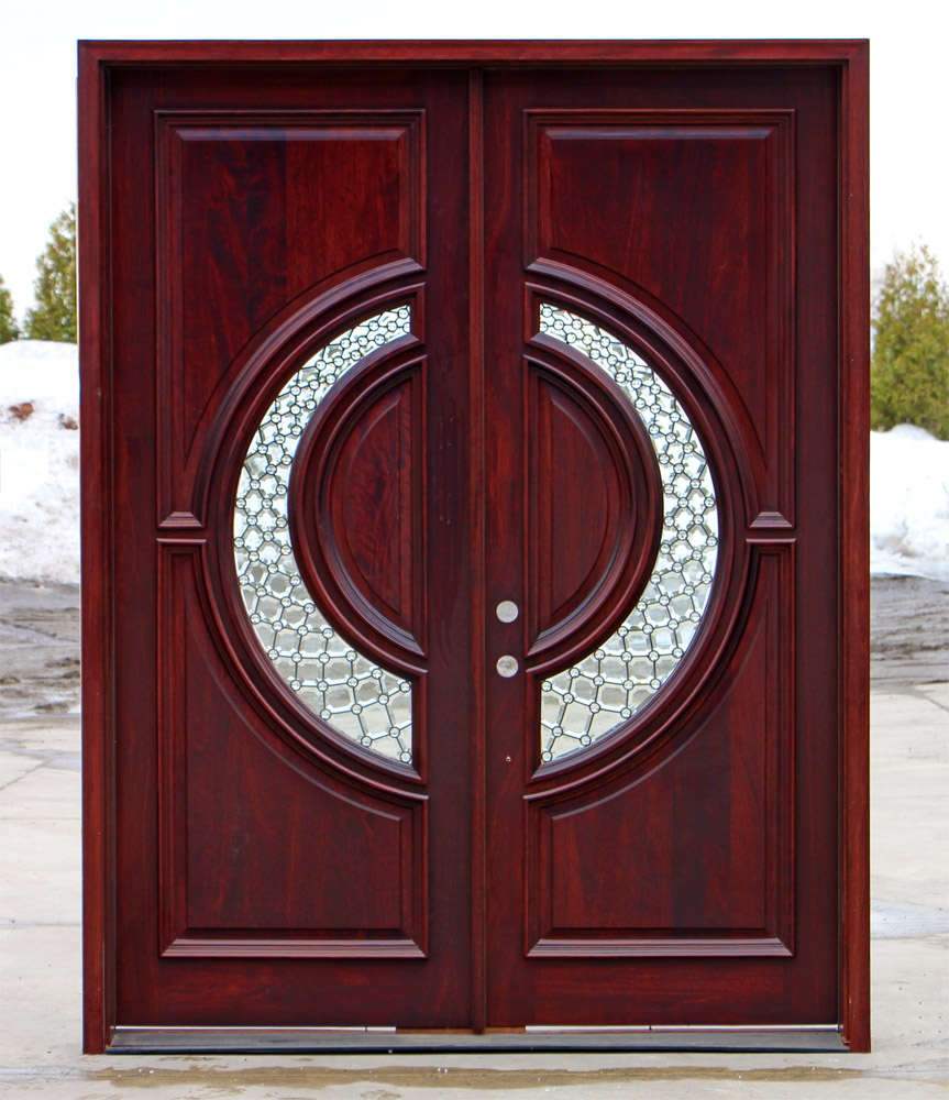 Tiffany Double Doors Red Mahogany