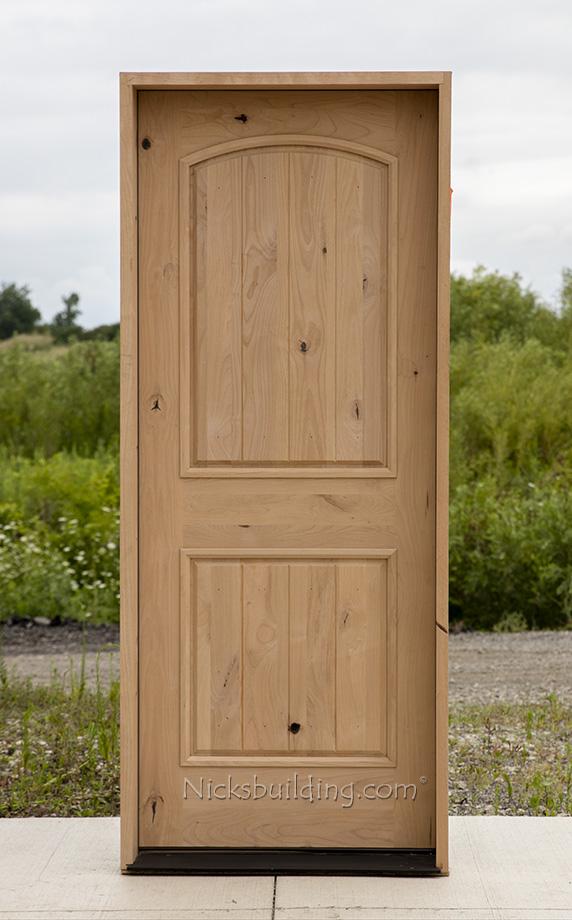 Knotty Alder Wood Doors 32x80