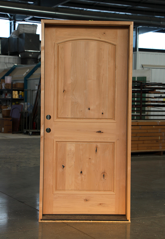 Knotty Alder Entry Door Clearance