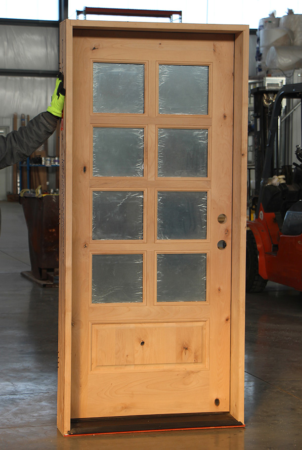 Knotty Alder Entry Glass Door Clearance