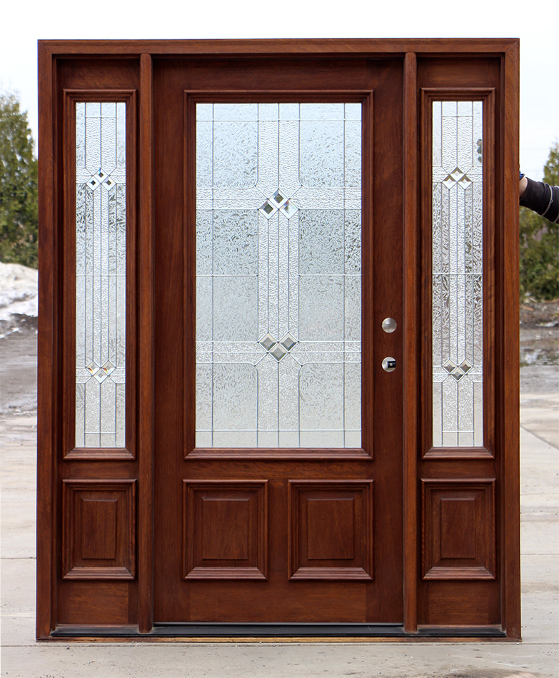 Exterior Door With Square Glass
