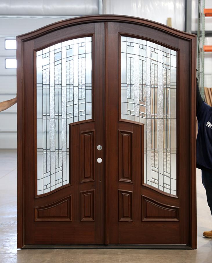 Mahogany Arched Top Double Doors