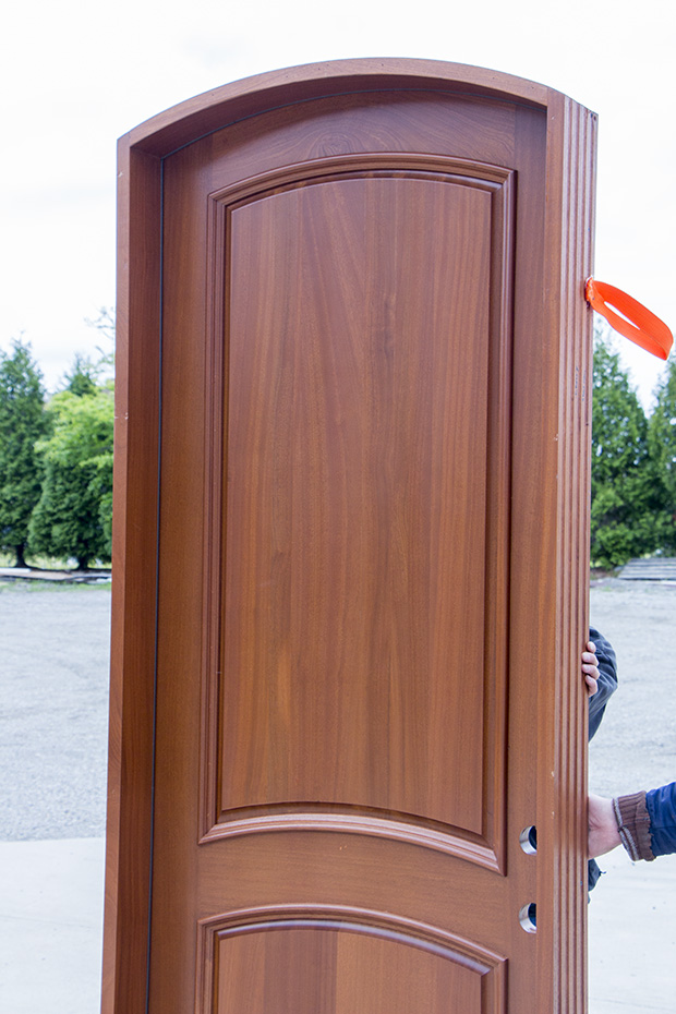 Arched Top Mahogany Entry Door