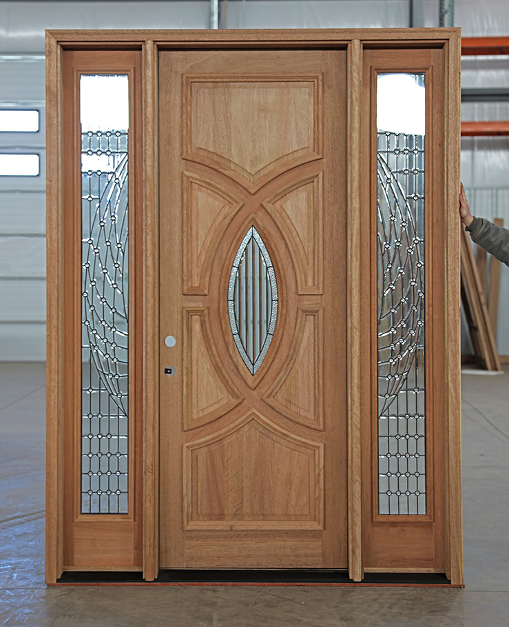 CL-31 3u0027 0  x 8u0027 0  Olympus Vision with Bella Sidelights Only $3695 (plus any freight shipping or delivery charge) & Solid Mahogany Door Bella Sidelights