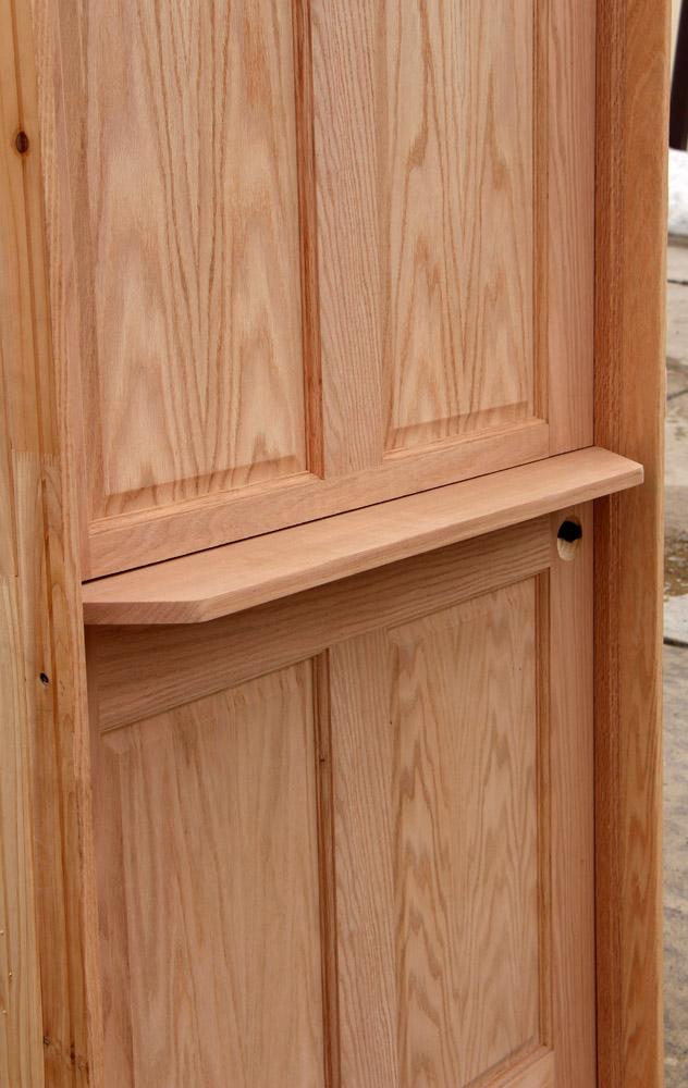 Interior Dutch Door With Shelf