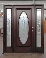 14 CL-40 oval glass front doors & Clearance Exterior Doors with Sidelights