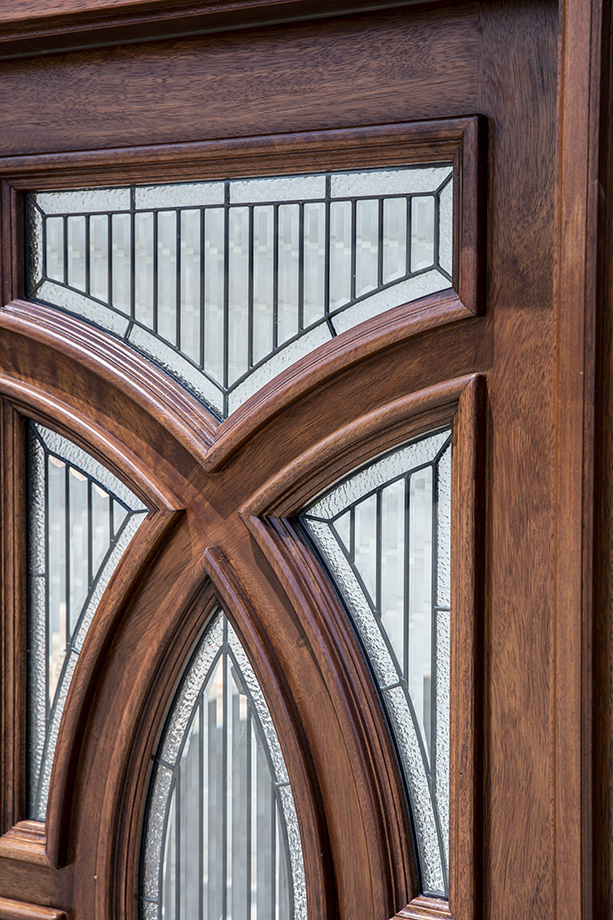 Solid Mahogany Door Futuristic Design