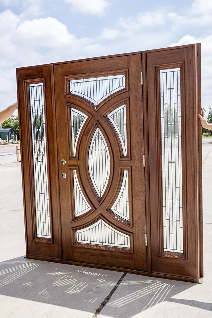 Solid Mahogany Door Futuristic Design