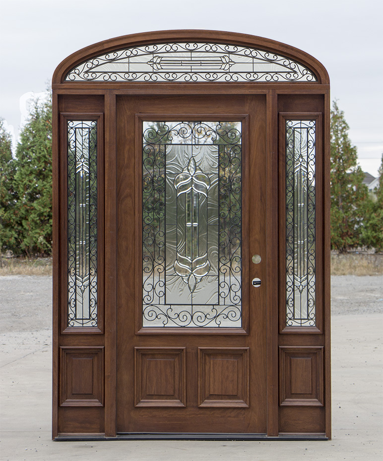 Mahogany Door With Elliptical Transom