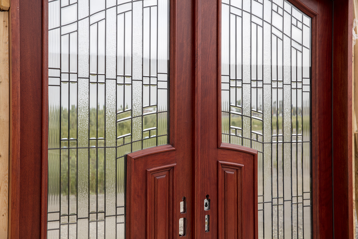 920 #3E1511 Pre Finished: Johnson Cherry Color. Exterior Grade UV Stains And  save image Exterior Doors Discount 45271380