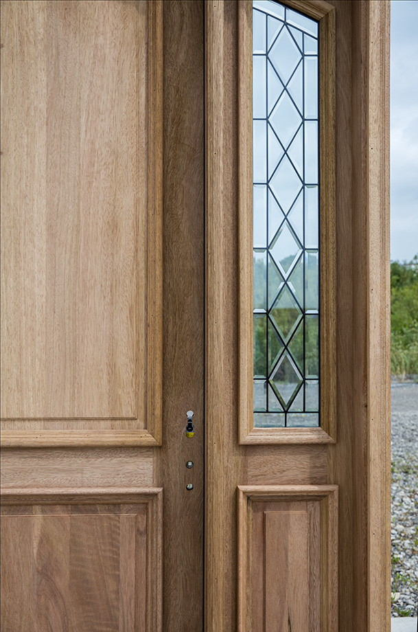 Arched Mahogany Exterior Door Cl 4301