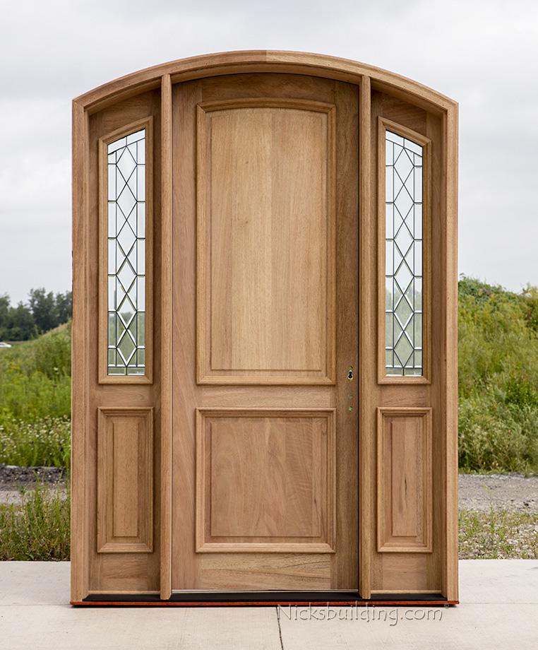 Arched Mahogany Exterior Door Cl 4301