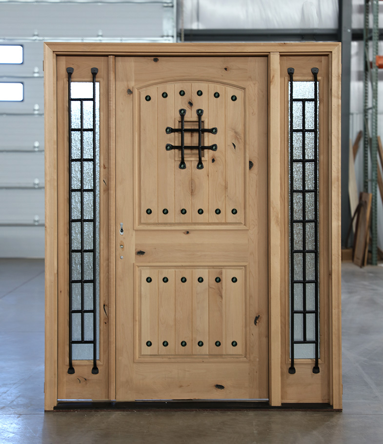 Knotty Alder Exterior Doors With 3 Point Locks