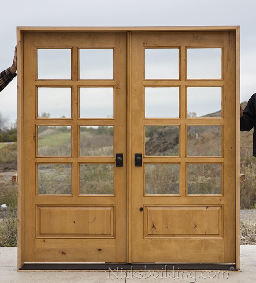 Knotty Alder Showroom Double Doors