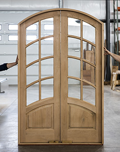 Arched Top Interior French Doors