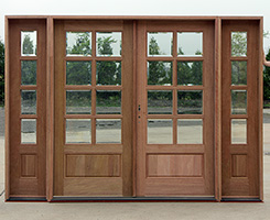 8 Lite Double Doors with Sidelights