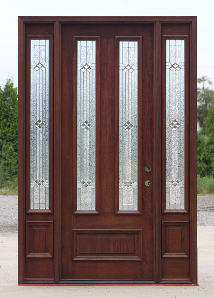 Exterior Mahogany Door And Sidelights In 8 39 0